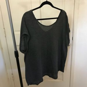 Banana Republic Scoop Neck Gray Blouse